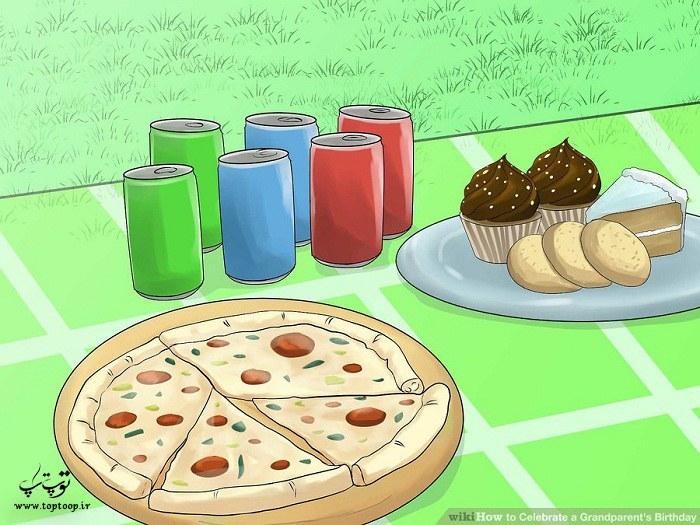 خرید غذا و نوشیدنی برای مهمانی