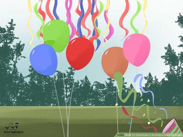 تزیین فضای جشن تولد
