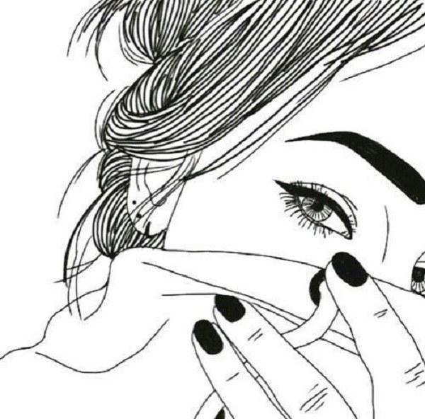 آلبوم تصاویر نقاشی شده دخترانه فانتزی در اشکال سیاه و سفید