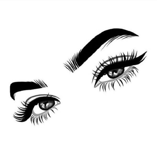 نقاشی دخترانه از چشم 2020 جدید سیاه و سفید
