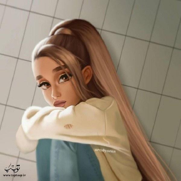 نقاشی فانتزی دخترونه غمگین 2020-1399 جدید