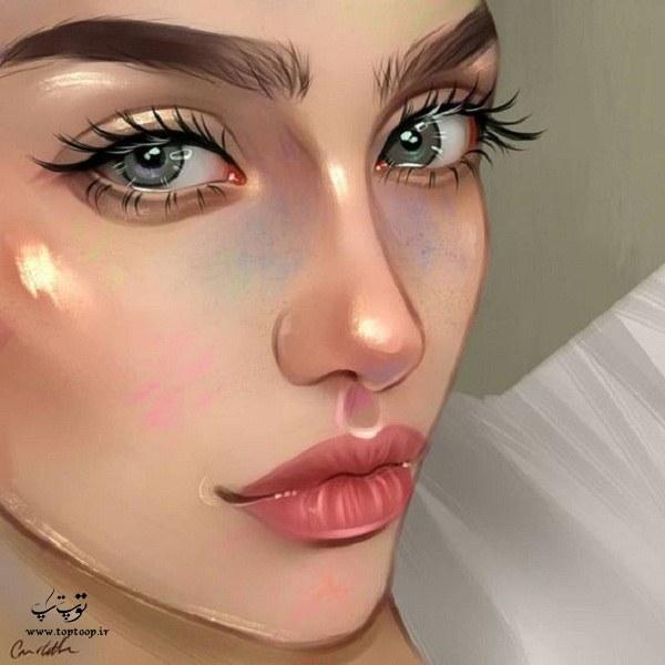 نقاشی فانتزی دخترانه طراحی شده در سال 2020