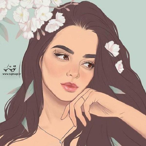 آلبوم عکس نقاشی دخترونه فانتزی 2020-99