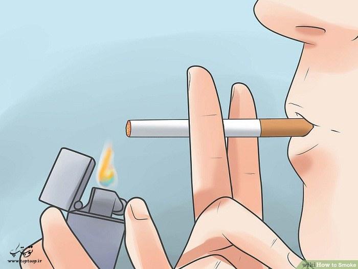 استفاده از فندک و کبریت برای روشن کردن سیگار