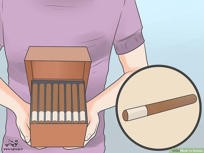 آموزش سیگار کشیدن ، یک سیگار بخرید