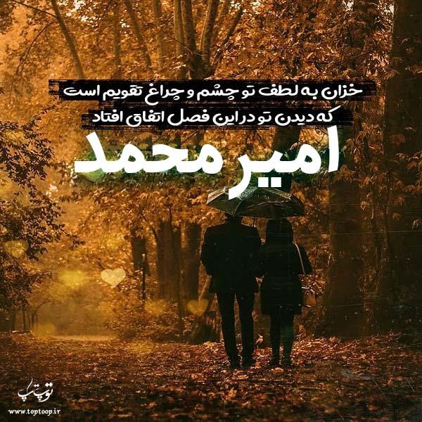 عکس نوشته پاییزی اسم امیرمحمد