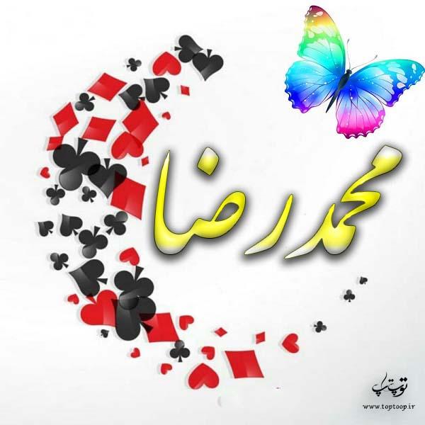 گرافیک اسم محمدرضا