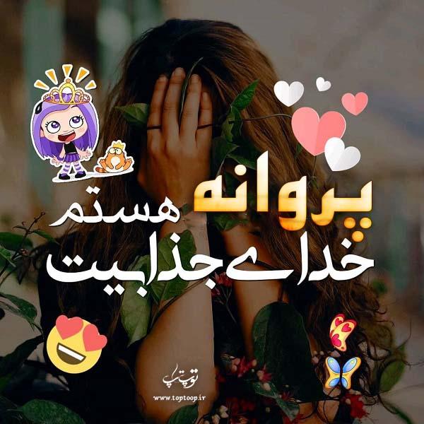 عکس نوشته ی اسم پروانه