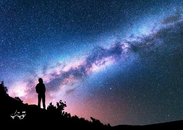 متن زیبا در مورد آسمان شب ، جملات کوتاه راجع به آسمان آبی