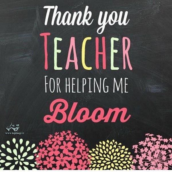 عکس نوشته انگلیسی تبریک روز معلم
