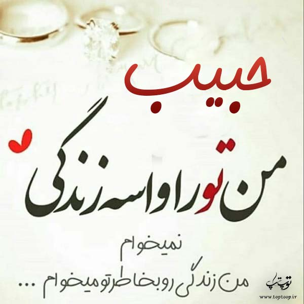 عکس نوشته جدید اسم حبیب