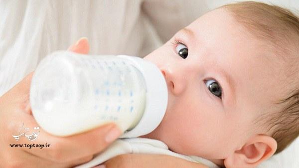 چکار کنیم که بچه شیر خشک بخورد