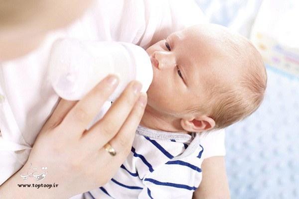 چکار کنیم که نوزاد شیر خشک بخورد