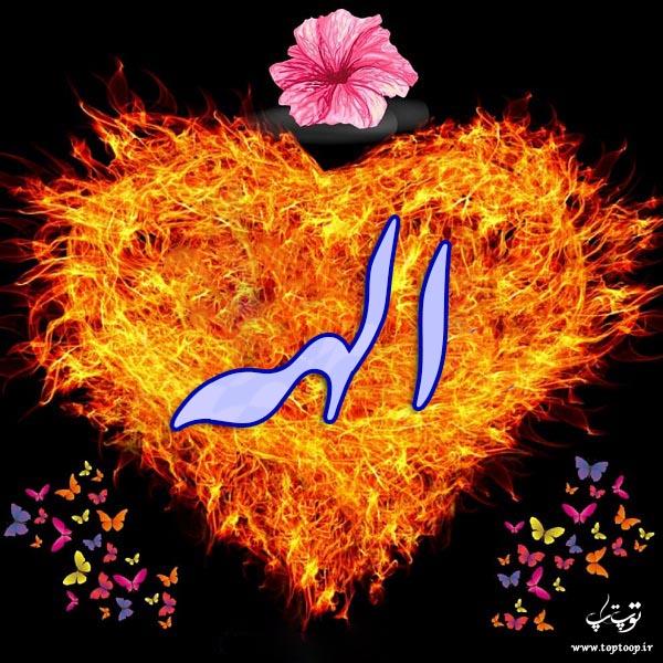 لوگوی قلبی اسم الهه