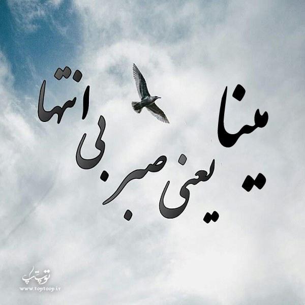 جملات ناب و جذاب در مورد اسم مینا mina