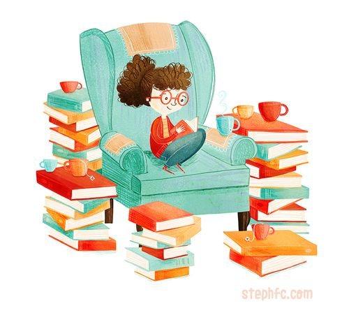 نقاشی های زیبای کتاب و کتابخوانی