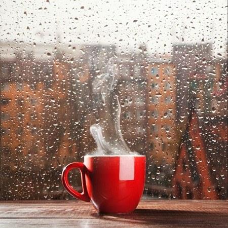 عکس پروفایل باران پشت شیشه