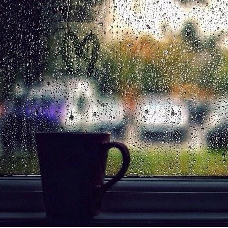 عکس پروفایل شیشه بارانی