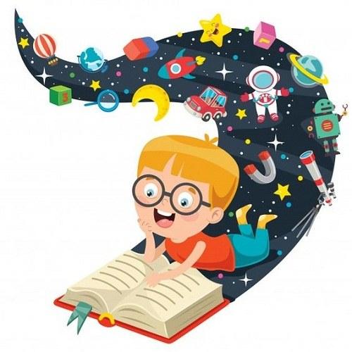 نقاشی کتابخوانی برای مدرسه