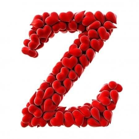 عکس پروفایل قلبی حرف انگلیسی Z