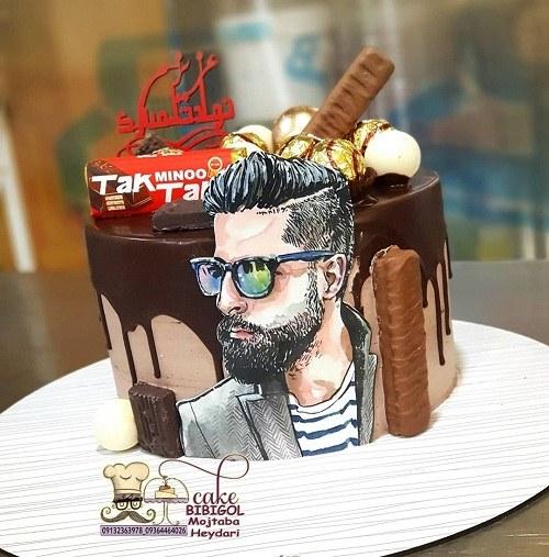 کیک تولد مردانه شکلاتی