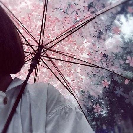 عکس پروفایل باران چتر و دختر