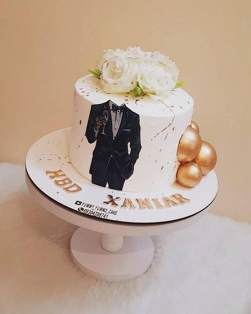 کیک تولد خانگی مردانه