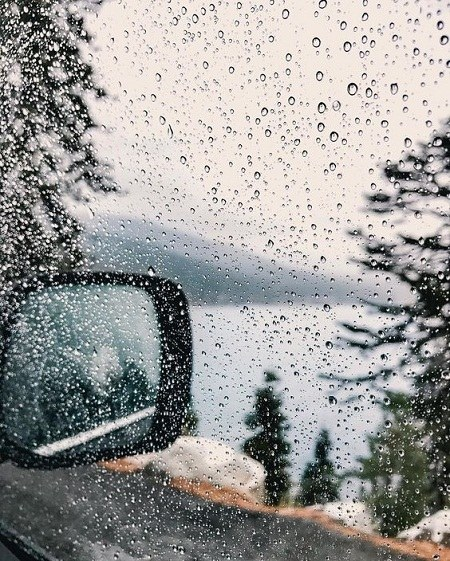 عکس پروفایل باران روی شیشه ماشین