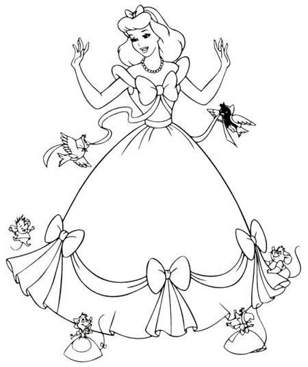 نقاشی زیبای سیندرلا