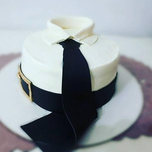 کیک تولد مردانه کراواتی