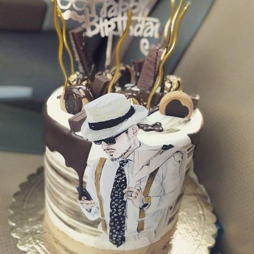 کیک تولد مردانه لوکس