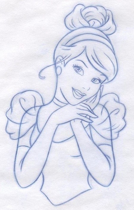 نقاشی سیندرلا مخصوص رنگ آمیزی