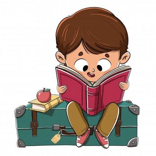 نقاشی های کتاب و کتاب خوانی
