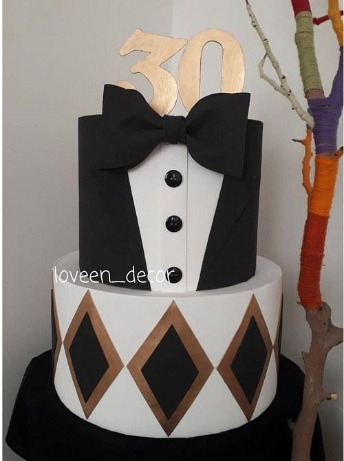 کیک تولد مردانه 30 سالگی