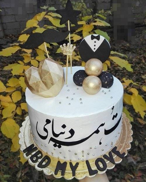 کیک تولد جذاب برای همسر