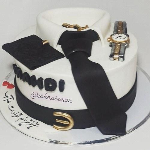 کیک تولد مردانه ساعت رولکس