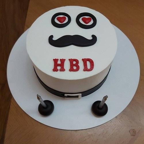 کیک تولد مردانه خونگی و زیبا