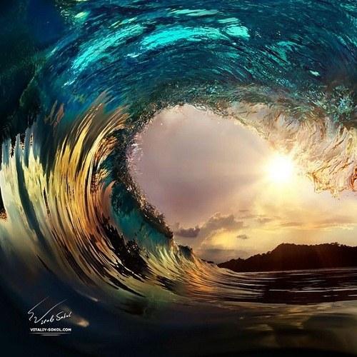 عکس پروفایل موج دریا