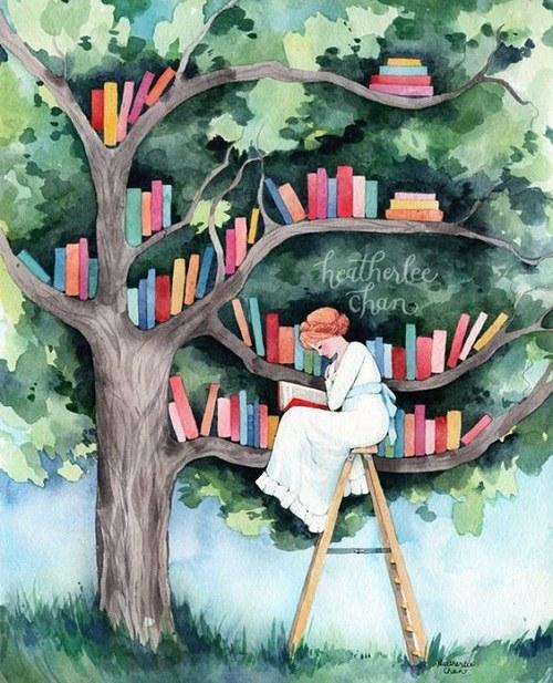 نقاشی کودکانه درمورد کتاب