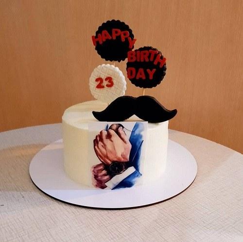 عکس کیک تولد مردانه 23 سالگی