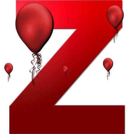 عکس حرف z برای تولد