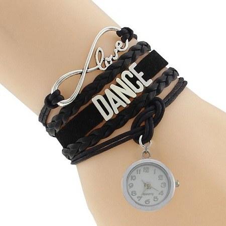 دستبند دخترانه طرح ساعت