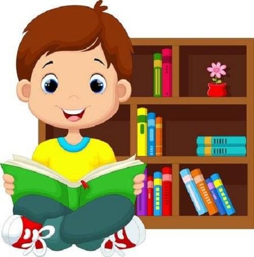 عکس نقاشی کتاب و کتابخوانی پسرانه