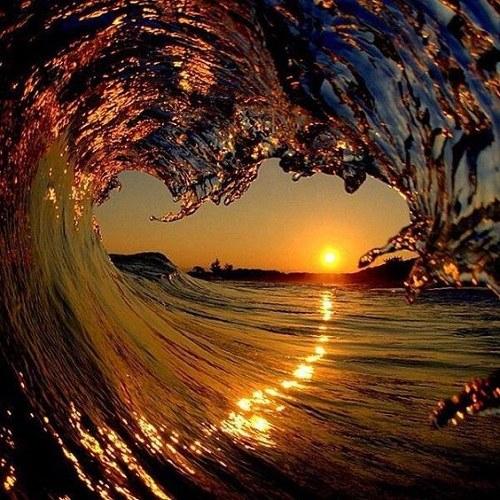 عکس پروفایل دریا و غروب خورشید