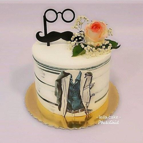 عکس کیک تولد مردانه ساده و شیک
