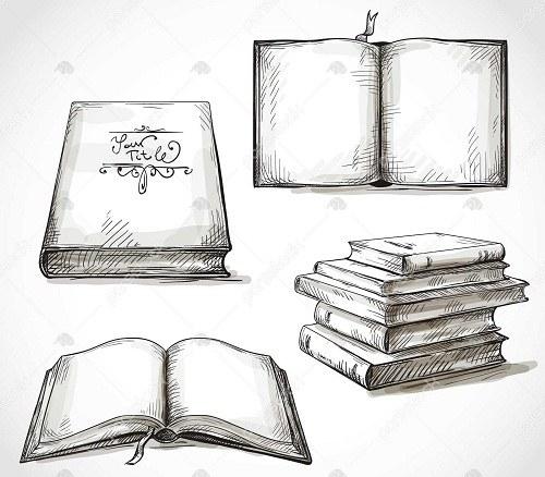عکس نقاشی کتاب و کتابخوانی