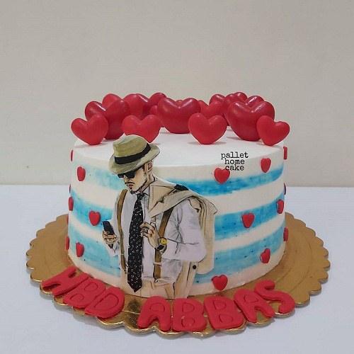 عکس کیک تولد مردانه عاشقانه