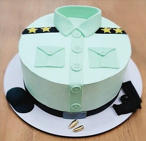 کیک تولد مردانه پلیس