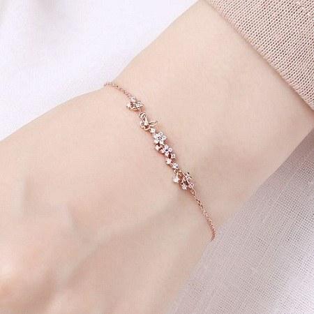 عکس دستبند طلای دخترانه 99 -1400