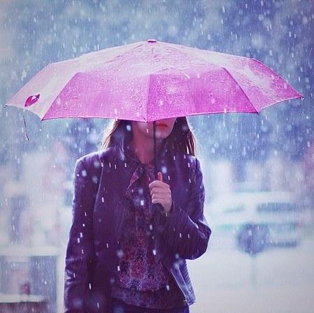 عکس پروفایل باران و چتر